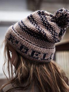 e00e1c56b12 Brown knit cap Cute Beanies