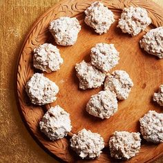 Hazelnut Macaroons - We love these simple, subtle drop cookies plain, but if you want to dress them up, dip the bottoms of the cooled cookies in melted bittersweet chocolate.