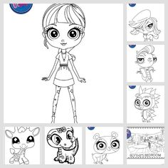 Littlest Pet Shop LPS Coloring Page Round-Up. **awesome collection of free coloring pages