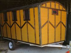 Daphne's Caravans: Magical Gypsy Caravans, guest spaces or retreats Home Made Camper Trailer, Camping Trailer Diy, Homemade Camper, Diy Camper, Gypsy Caravan, Gypsy Wagon, Small Trailer, Small Campers, Shepherds Hut