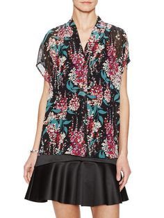Silk Printed Floral Top by Tocca at Gilt