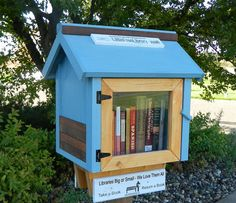 little free library - we have several in our neck of Portland!