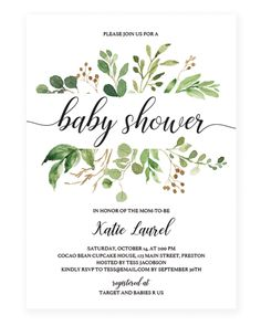 Damask Baby Shower Boy Invitation  Personalized Custom Boy Baby