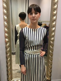 Trend Watch: Bold Stripes Sleeveless Outfit, Bold Stripes, Shirt Dress, Watch, Sleeves, Shirts, Outfits, Dresses, Vestidos