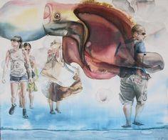 "Saatchi+Online+Artist+Sabina+Sinko;+Painting,+""passers+by+S2""+#art"