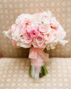 Peonies, white sweet peas, ranunculus, candy bianca roses, champagne roses and majolica roses. by terrie
