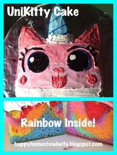 The Happy Homestead: UniKitty Cake This is the UniKitty cake I made for my daughter's birthday!