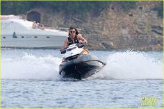Jamie Dornan & Dakota Johnson Ride a Jet Ski for 'Fifty Shades Freed'
