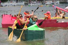 Cardboard Boat Regatta at Rough River Lake, Falls of Rough, KY. Photo courtesy the US Army Corp of Engineers.