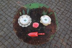 weathered make-up by virginhoney, via Flickr; this would be fun to do in the children's garden!!!