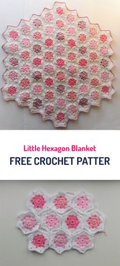 Little Hexagon Blanket Free Crochet Pattern #crochet #yarn #style #home #homedecor