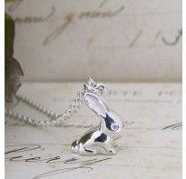 Alexis Dove Ladies Silver Vintage Bunny Pendant