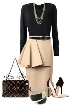 """""""09/27/15"""" by longstem ❤ liked on Polyvore featuring Gianvito Rossi, Givenchy, Roksanda, RED Valentino, Alexis Bittar, Chanel and Friis & Company"""