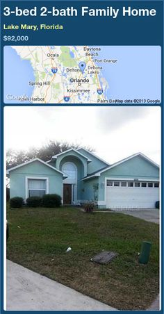3-bed 2-bath Family Home in Lake Mary, Florida ►$92,000 #PropertyForSale #RealEstate #Florida http://florida-magic.com/properties/78859-family-home-for-sale-in-lake-mary-florida-with-3-bedroom-2-bathroom