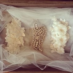 Some of my favorite bridal headpieces and wedding hair accessories #weddings #bride by @Emily Martin Handmade