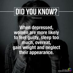 When Depressed, Women Are More Likely To Feel Guilty Psychology Says, Psychology Fun Facts, Psychology Quotes, Wow Facts, Wtf Fun Facts, True Facts, Crazy Facts, Random Facts, Funny Facts
