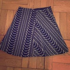 Zara skirt Beautiful detail, flattering slightly flared fit Zara Skirts
