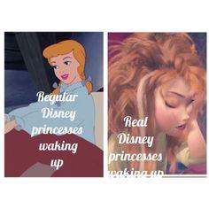 Disney princesses waking up