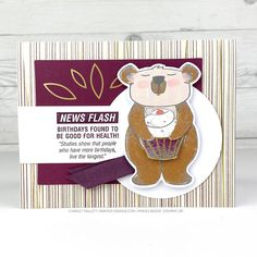 Approaching Perfection & Beary Comforting - Charlet Mallett - Stampin' Up! Pumpkin Cards, Paper Pumpkin, Succulent Images, Healing Hugs, Global Design, Pretty And Cute, My Stamp, Cool Cards, Cool Artwork