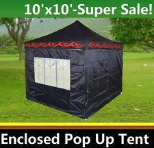 enclosed portable gazebos - Google Search  sc 1 st  Pinterest & 10u0027 x 10u0027 Fully Enclosed Pop Up Party Tent Gazebo Canopy ...