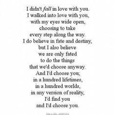 Walk into love...