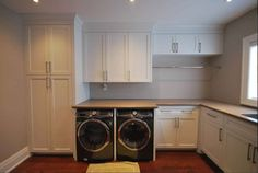 Laundry Room INSPIRATION - Cabinet layout