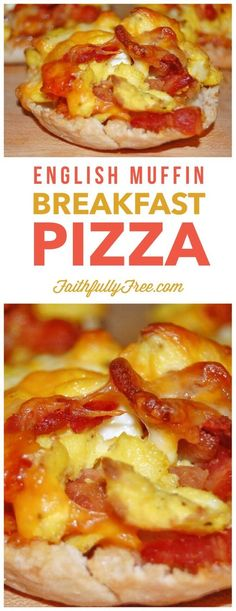 English Muffin Breakfast Pizza is the perfect back to school breakfast for kids. It's fast and easy to make before the kids leave for school.