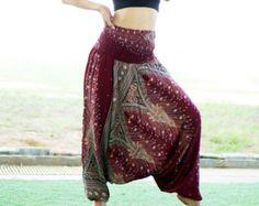 Floral pantalons rayonne sarouel Boho Strenchy pantalon par MaeYing
