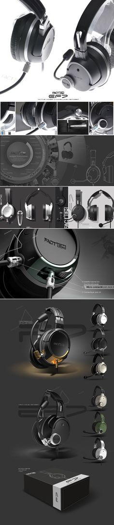 New headset design, for Factem, french audio military products manufacturer. Audio Design, Sound Design, Portfolio Layout, Portfolio Design, Creative Portfolio, Web Design, Layout Design, Graphic Design, Presentation Layout