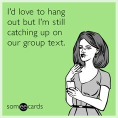 Group texts are the worst!