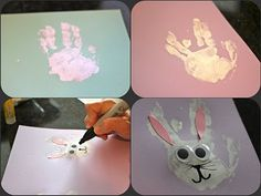 Easter Bunny from a handprint!