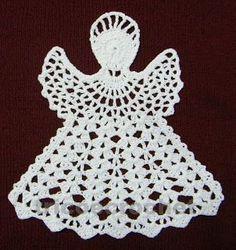Tricô e Crochê - Knitting and Crochet: Enfeite de Natal em Crochet - Anjo Natalino