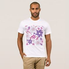 Abstract Flower Background Mens T-Shirt - flowers floral flower design unique style