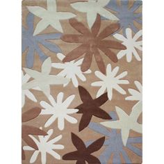 Hand-tufted Alexa Pino Collection Star Fish Multi Rug (76 x 96), $236.99 | www.findbuy.co/store/overstock-com #RugsUSA