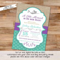 Mermaid baby shower invitation mermaid baby by penguinpartyprints mermaid baby shower invitation bridal shower under the sea 1365 wedding hen party bachelorette high tea rehearsal engagement invitation filmwisefo Images