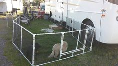 Creative way to make a yard for your pets or even your kids ;)  #RVLife #RVPets