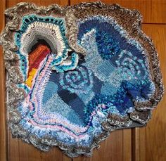 Where the Sky Meets the Sand: the Four Seasons of a Desert Sky by Kesam Katz, 2009 Internat'l Freeform Crochet Guild Challenge