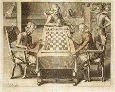 """""""La partida"""". 1616. De Gustavus Selenus (1579 – 1666)"""