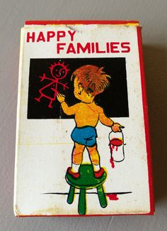 Vintage 1968 Game Of Happy Families, By Emu, Made In Hong Kong, Boxed, Complete Set Of 40 Cards And Instruction Card. by OnyxCollectables on Etsy