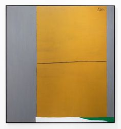 Robert Motherwell | Open No. 2: In Ochre and Grey (1967), Available for Sale | Artsy