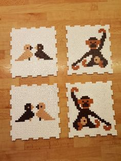 Puzzle with Hama beads Hama Beads Design, Diy Perler Beads, Hama Beads Patterns, Perler Bead Art, Beading Patterns, Beaded Cross Stitch, Cross Stitch Embroidery, Hama Maxi, Frozen Crochet