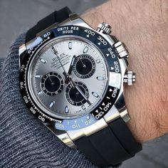 Rolex Watches: 116519LN stankof Daytona White Gold - Oysterflex Strap#rolex#rolexwatch#wachseller#replicawatch#formen#fashion#counterfeit#watchaddict#watches#gift#luxury
