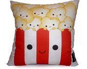 Mini Pillow - Yummy Popcorn. $18.00, via Etsy.