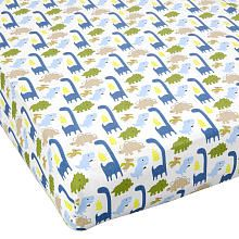 "Jill McDonald Adorable Dinos Crib Sheet - Triboro Quilt Mfg Co - Babies ""R"" Us"