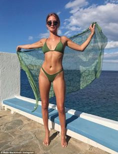 Millie Mackintosh shows off her honeymoon glow in a floral mini dress Green Bikini, Black Bikini, Millie Mackintosh, Amanda Holden, Made In Chelsea, Meet Friends, Bikinis, Swimwear, Caipirinha