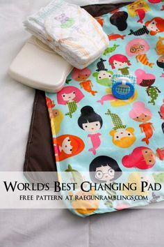 Free changing pad pattern. Easy sewing project // where was this when we did the HH project? :)