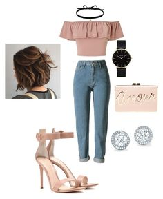 """""""90's vibe outfit✨"""" by angeliqueamor on Polyvore featuring Miss Selfridge, Gianvito Rossi, Joomi Lim, BCBGMAXAZRIA and CLUSE"""