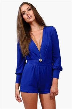 Sultry Romper - Royal Blue