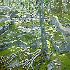 The first I heard of Neil Welliver was through West Coast abstract-expressionist artists visiting our house in the Midwest. I was puzzled, but over the years, he's become a favorite.