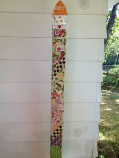 Garden post side 1 Mosaic by Jan Wolfe My Mosaics Pinterest